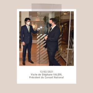 Visite de Stéphane VALERI, Président du Conseil National de Monaco
